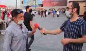 Muhabirin sabrı tükenme noktasına geldi! Sosyal medyaya damga vuran röportaj