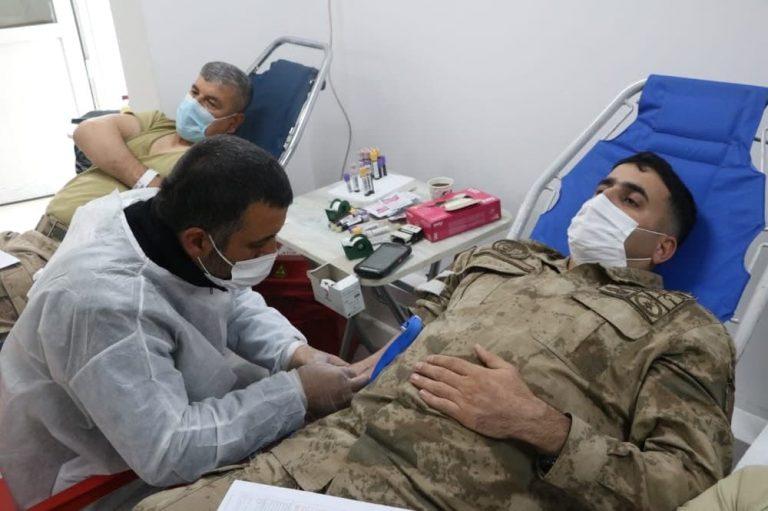 Kanun ordusu  kan bağışı yaptı