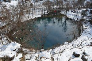 Kahramanmaraş'ın saklı cenneti 'Yeşilgöz' beyaz gelindiğini giydi