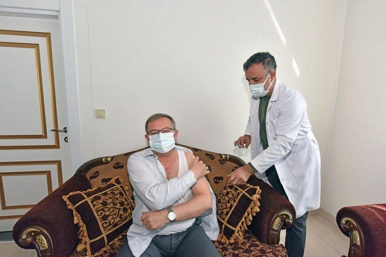 Göksun'da 3 bin 500 kişiye Korona aşısı vururdu