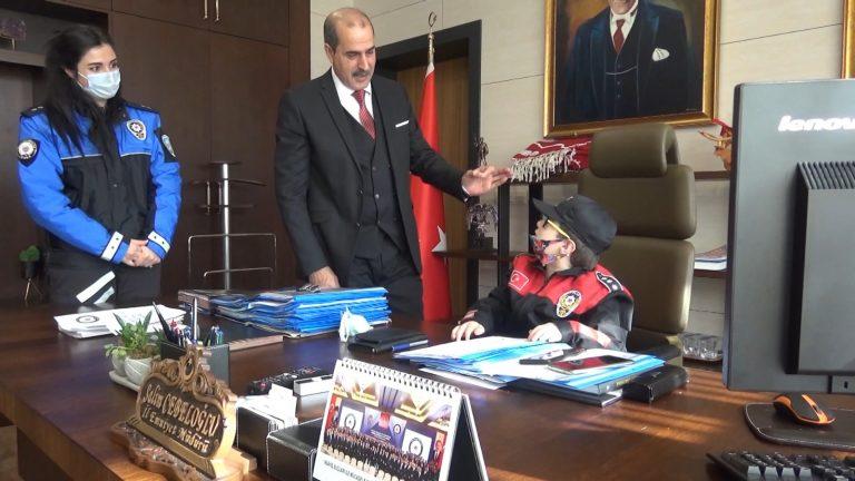 Otizmli 'Efe' doğum gününde emniyet müdürü oldu