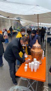 MHP Kahramanmaraş'ta esnafın içini ısıttı
