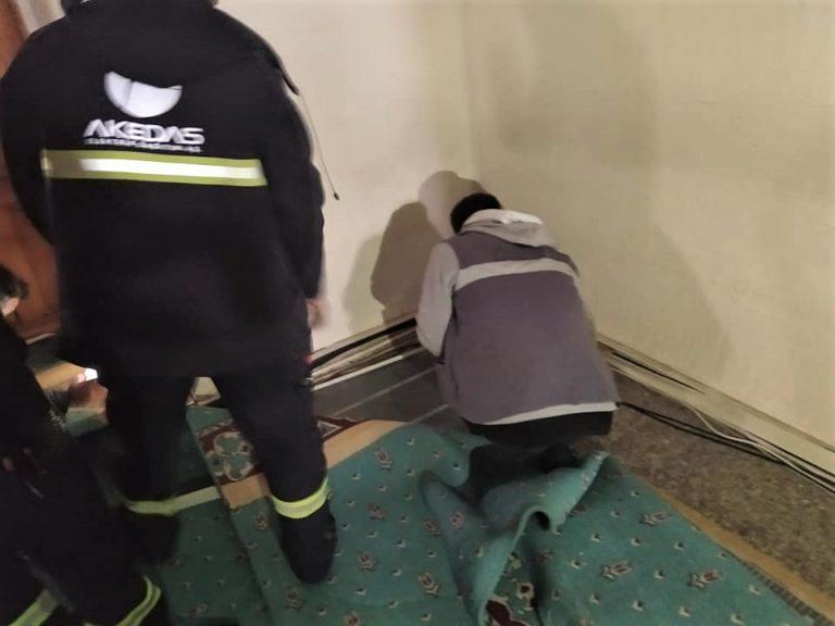 Elbistan'da Cuma namazı sırasında camide yangın çıktı