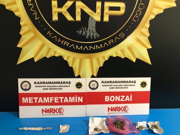 Kahramanmaraş'ta uyuşturucudan 2 kişi tutuklandı