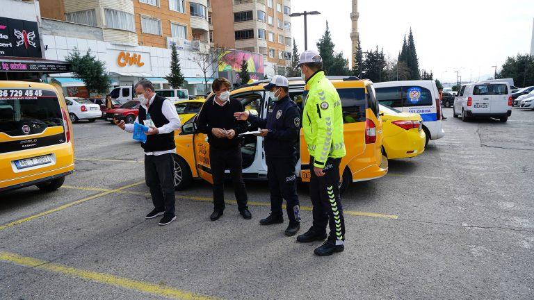 Büyükşehir ticari taksileri denetledi