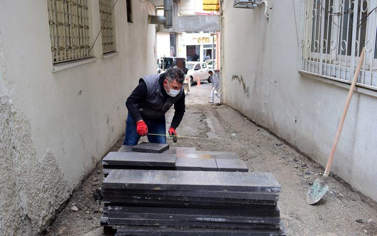 Dulkadiroğlu Belediyesi ilçe genelinde bazalt çalışmalarını sürdürüyor