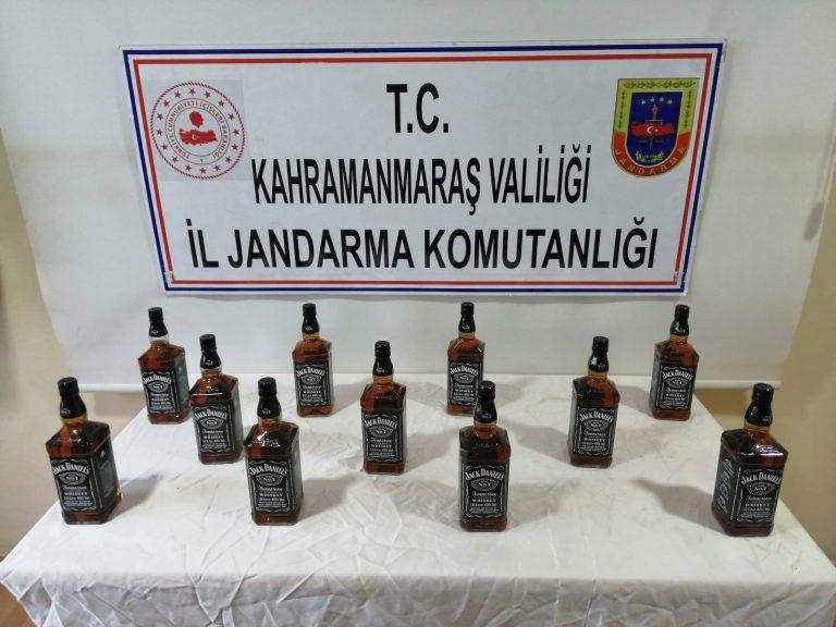 Jandarma 11 litre kaçak alkol ele geçirdi