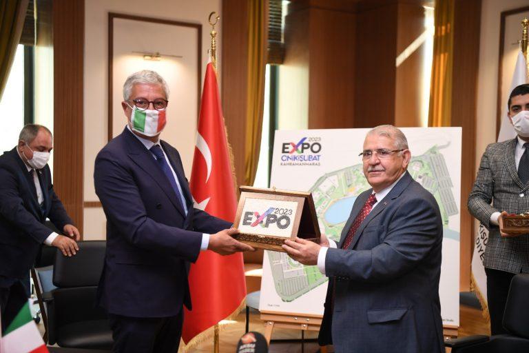 Başkan Mahçiçek EXPO 2023 İçin İtalya ile Anlaşma İmzaladı