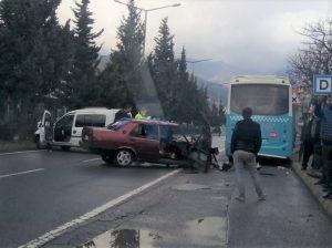 Kahramanmaraş'ta, Feci kaza 1'i ağır 3 yaralı