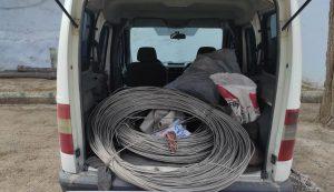 Pazarcık'ta elektrik kablo hırsızlığı
