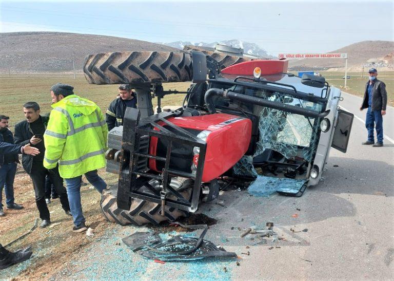Sürücüsü o traktörden sağ çıktı