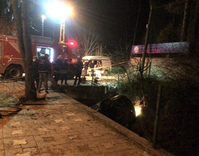 Otomobil Su Kanalına Düştü: 1 Ölü