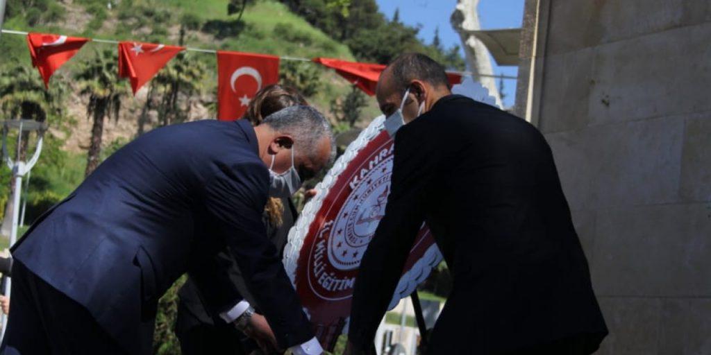 Kahramanmaraş'ta Sosyal Mesafeli 23 Nisan Töreni Düzenlendi