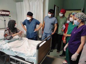 Kahramanmaraş'ta 59 yaşındaki hastanın karnından 9 kilo 600 gram tümör çıkarıldı