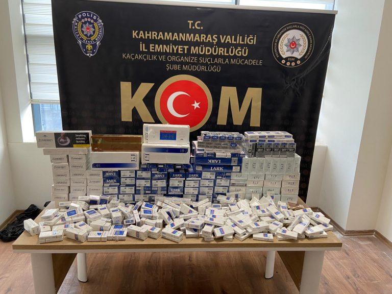 Kahramanmaraş'ta Tütün Kaçakçılığı Operasyonu