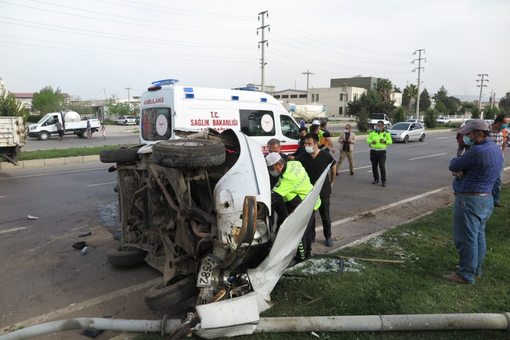 Kahramanmaraş'ta Feci Kaza : 2 Yaralı