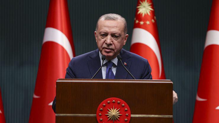 """Cumhurbaşkanı Erdoğan: """"29 Nisan 17 Mayıs arası tam kapanmaya geçiyoruz"""""""