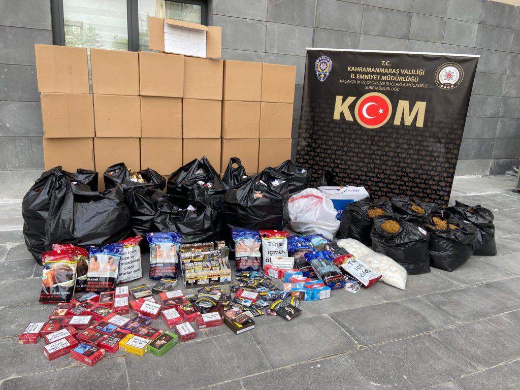 Kahramanmaraş'ta Kaçak Tütün İmalatçısına Operasyon