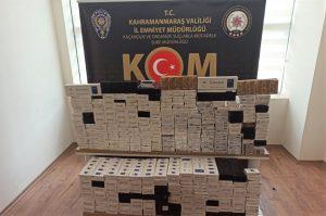Kahramanmaraş'ta kaçak sigara ticaretine polis baskını