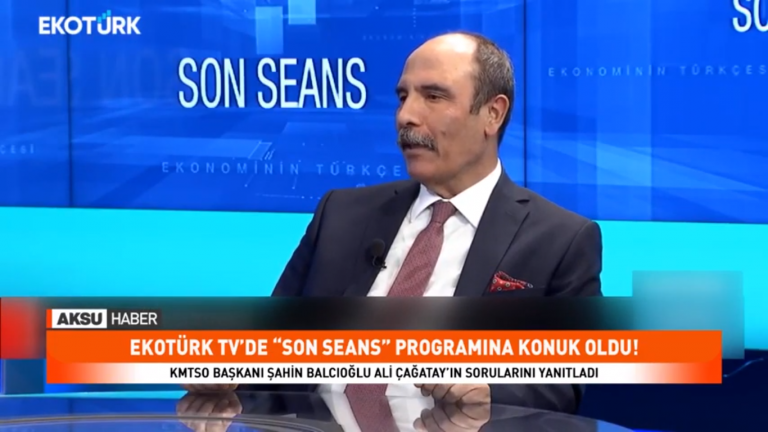 KMTSO Başkanı Balcıoğlu: Üretmekten keyif alıyoruz