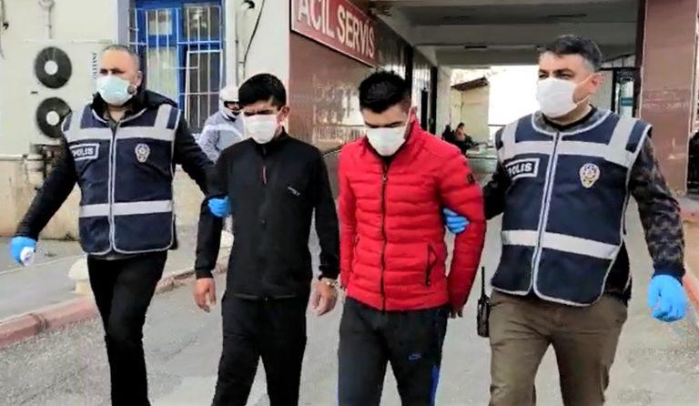 O hırsızlar tutuklandı!