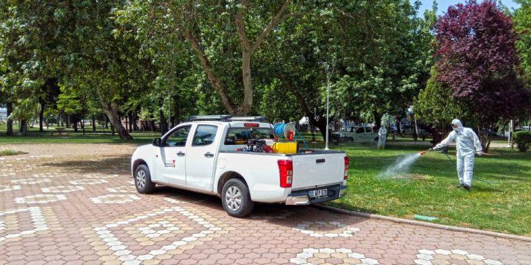 Büyükşehir Belediyesi Dezenfeksiyon Çalışmalarını Aralıksız Sürdürüyor