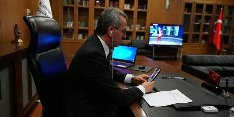 Başkan Güngör Milli Sporcuyla Moral Görüşmesi Yaptı