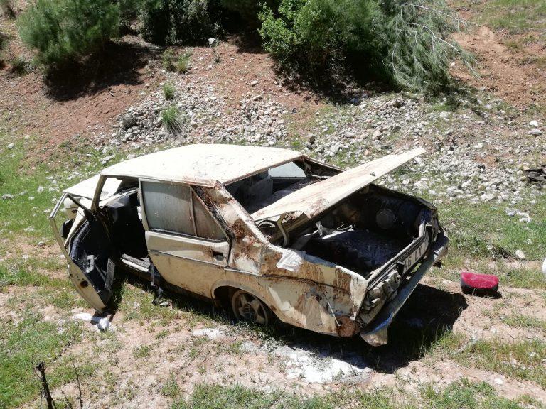 Kahramanmaraş'ta Takla Atan Otomobil Hurdaya Döndü