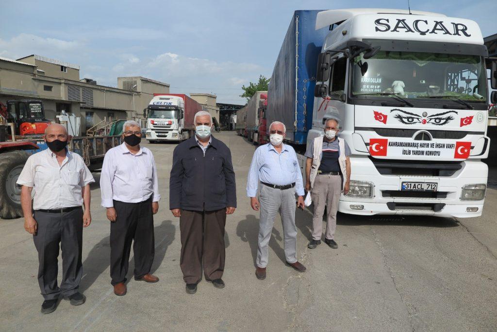 Kahramanmaraş'tan Suriye'ye 5 tır yardım sevkiyatı