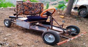 Kahramanmaraş'ta Genç Çocuk Go Kart Aracı Yaptı