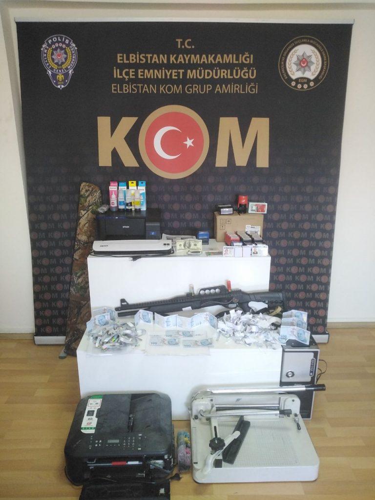 Kahramanmaraş'ta Sahteciler Kıskıvrak Yakalandı