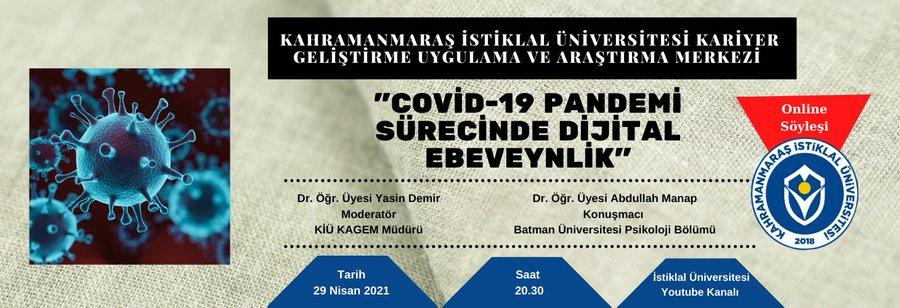 """""""Dijital Ebeveynlik"""" Konulu Söyleşi Çevrimiçi Gerçekleşti"""