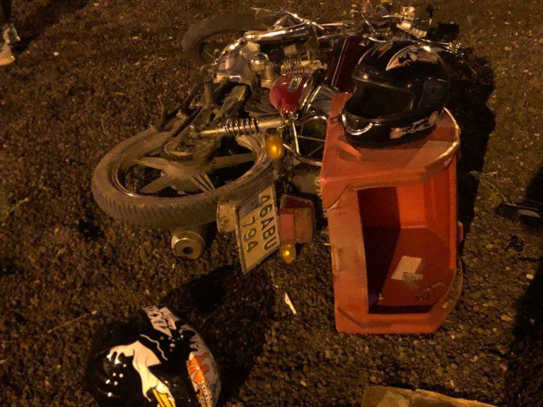 Taşlara Çarpan Motosiklet Sürücüsü Yaralandı