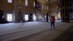 Kahramanmaraş'ta Bayram Namazı Öncesi Hazırlık