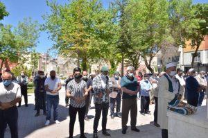 Elbistan'da Filistin Şehitleri İçin Cenaze Namazı Kılındı