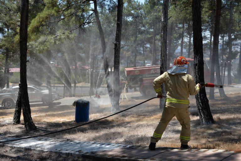 Kahramanmaraş'ta 2021 Yılı Yangın Tatbikatı Yapıldı