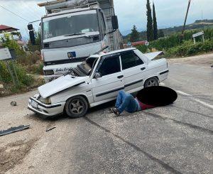 Kahramanmaraş'ta Trafik Kazası, 1 Ölü, 1 Yaralı