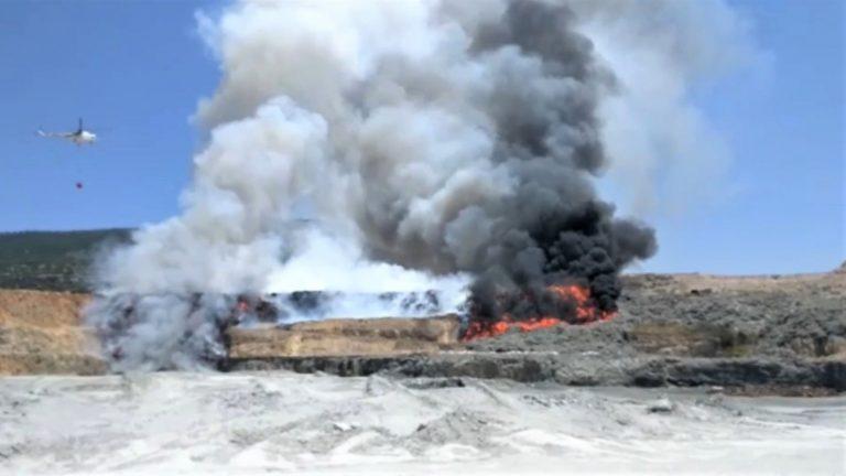 Kahramanmaraş 'ta Katı Atık Alanında Yangın
