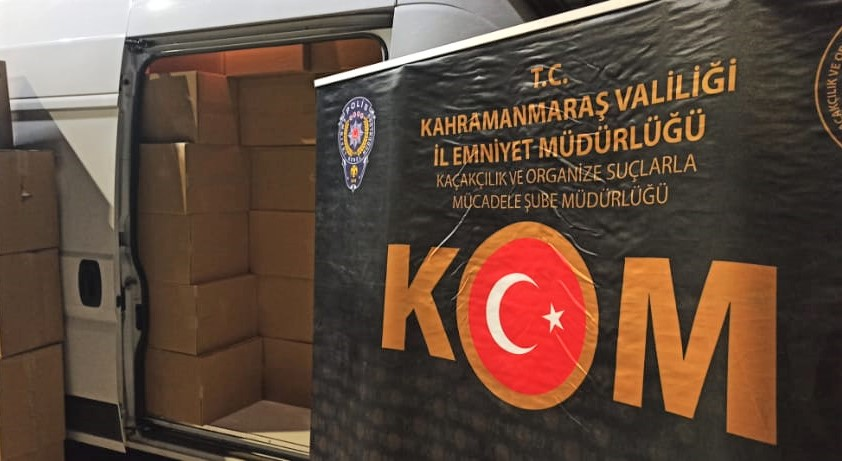 Kahramanmaraş'ta 1 Milyon 820 Adet Kaçak Makaron Ele Geçirildi