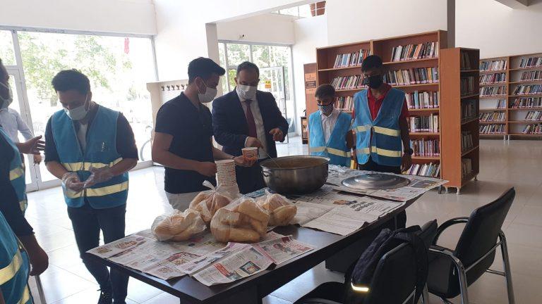 Türkoğlu'nda Üniversite'ye Hazırlanan Öğrencilere Moral Verdiler