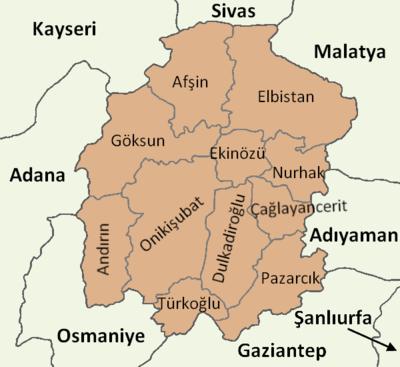 Kahramanmaraş'taki Suriyeli Nüfusu