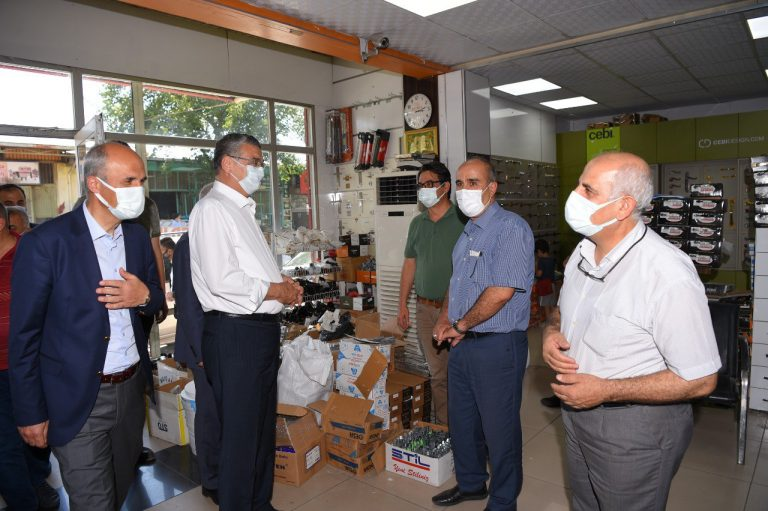 Dulkadiroğlu Belediye Başkanı Necati Okay Esnaf Ziyaretinde
