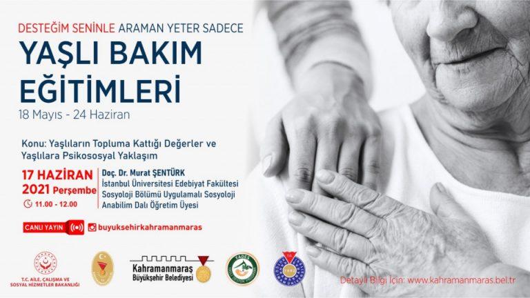 """Doç. Dr. Şentürk'le """"Yaşlıların Topluma Kattığı Değerler"""""""