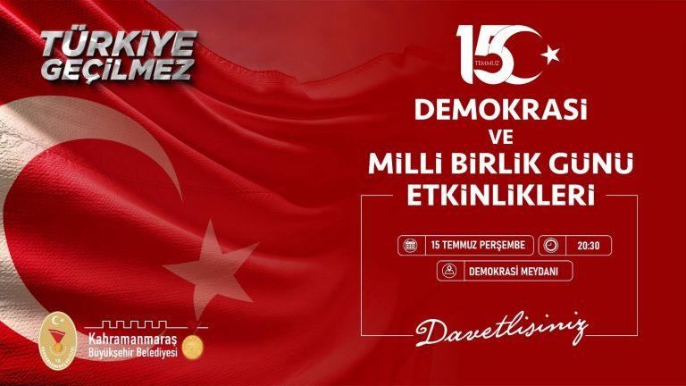 15 Temmuz Demokrasi ve Milli Birlik Günü Etkinlikleri Başlıyor!