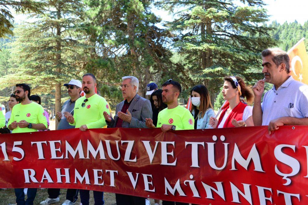 KSÜ 15 Temmuz Şehitleri İçin Yürüdü: 'Türkiye Geçilmez' Dedi