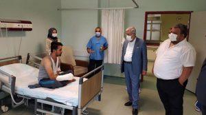 Rektör Can'dan, Tıp Fakültesi Hastanesine Bayram Ziyareti