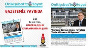 """Onikişubat Belediyesi'nden dijital gazete """"Onikişubat'ta Hayat"""""""
