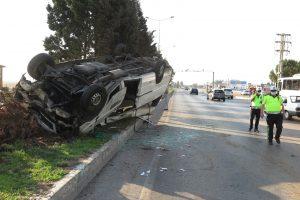 Kahramanmaraş'ta işçi servisi ters döndü: 10 yaralı