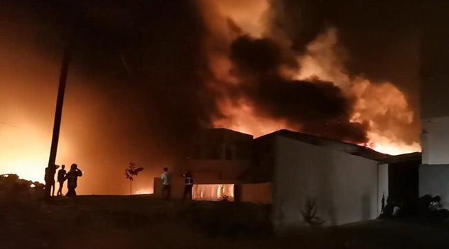 Kahramanmaraş'ta geri dönüşüm tesisinde yangın