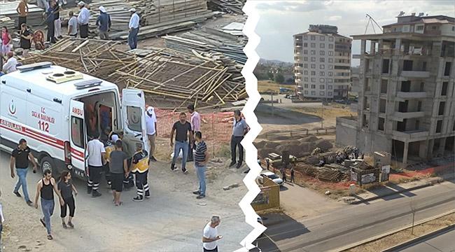 Kahramanmaraş'ta inşaat işçisi 4. kattan aşağı düştü